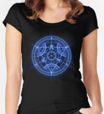 Human Transmutation Circle Women's Fitted Scoop T-Shirt