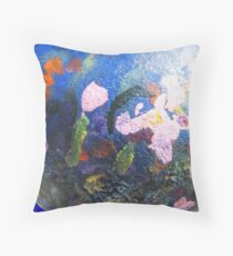 Colorful Display on a Gourd Throw Pillow