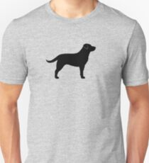 Black Labrador Retriever Silhouette(s) T-Shirt