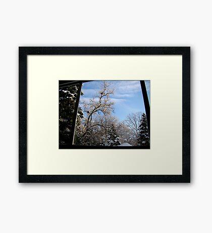 Window to Winter Framed Print