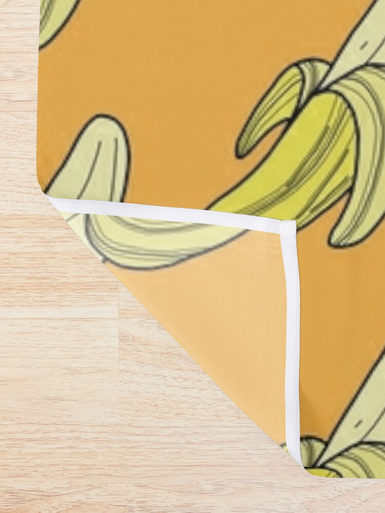 Alternate view of VINTAGE - BANANA Shower Curtain
