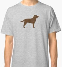 Chocolate Labrador Retriever Silhouette(s) Classic T-Shirt