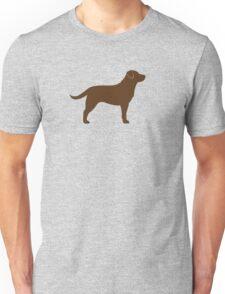 Chocolate Labrador Retriever Silhouette(s) Unisex T-Shirt