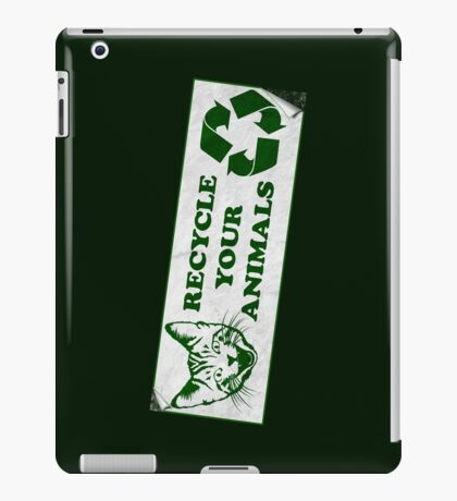 Recycle your Animals - Fight Club iPad Case/Skin