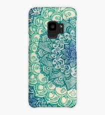 Emerald Doodle Case/Skin for Samsung Galaxy