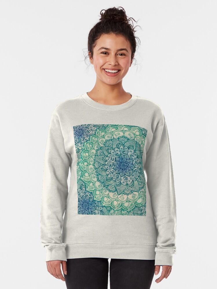 Alternate view of Emerald Doodle Pullover Sweatshirt