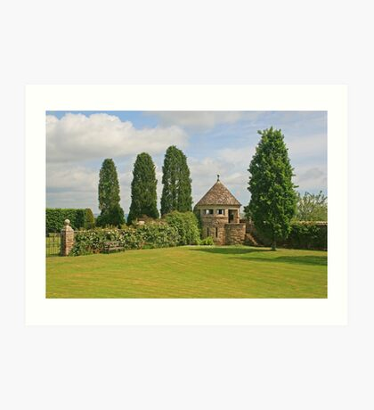 Manor Gardens, Hinton St Mary Art Print