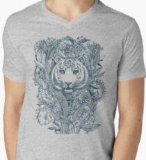Tiger Tangle Men's V-Neck T-Shirt