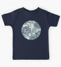 Shabby Chic Navy Blue doodles on Wood Kids Clothes