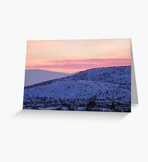 Split Rails and Fading Hills Greeting Card