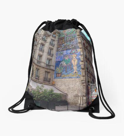 Urban artwork Drawstring Bag