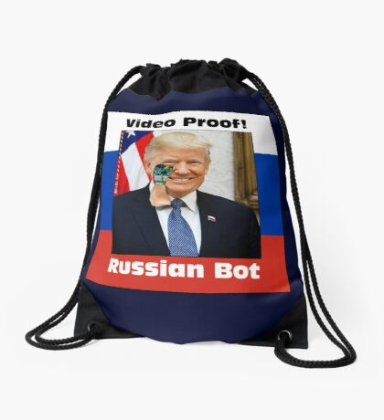 Russian Bot Trump Drawstring Bag
