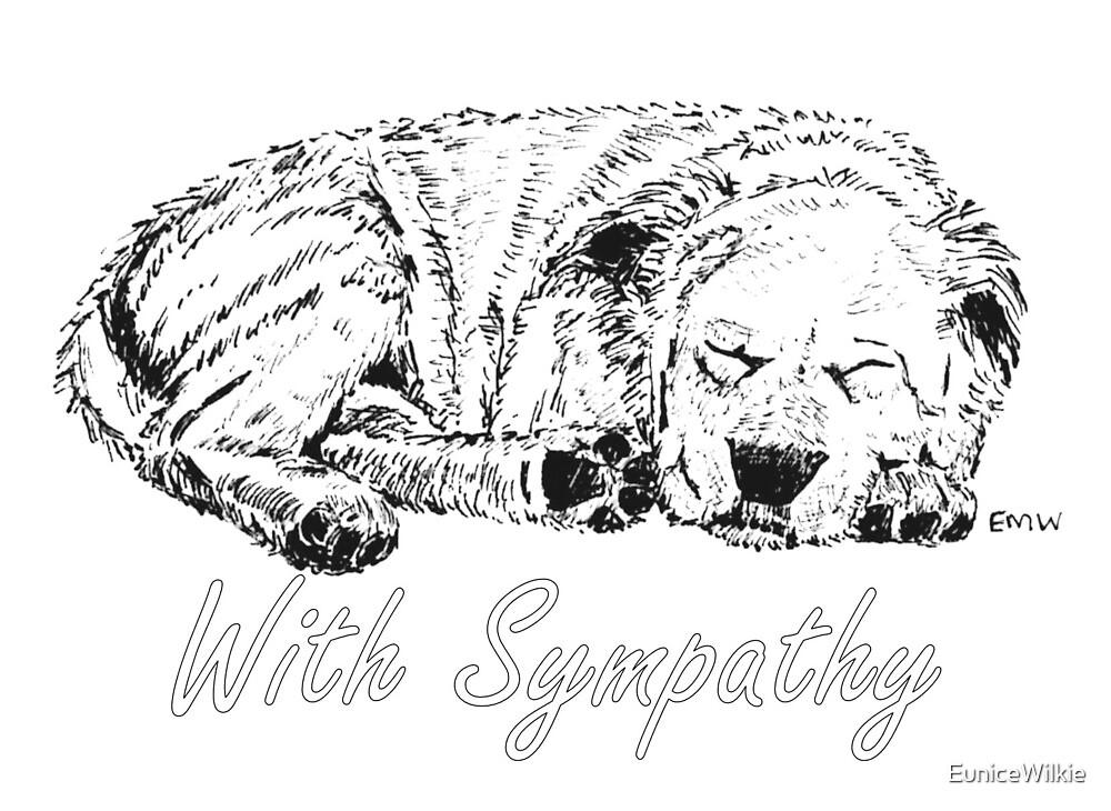 Let Sleeping Dogs Lie - Sympathy Card by EuniceWilkie