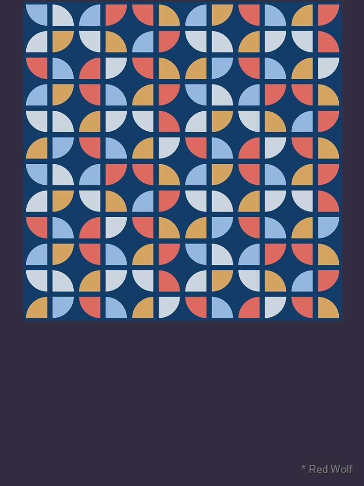 Geometric Pattern: Quarter Circle: Coastal by redwolfoz