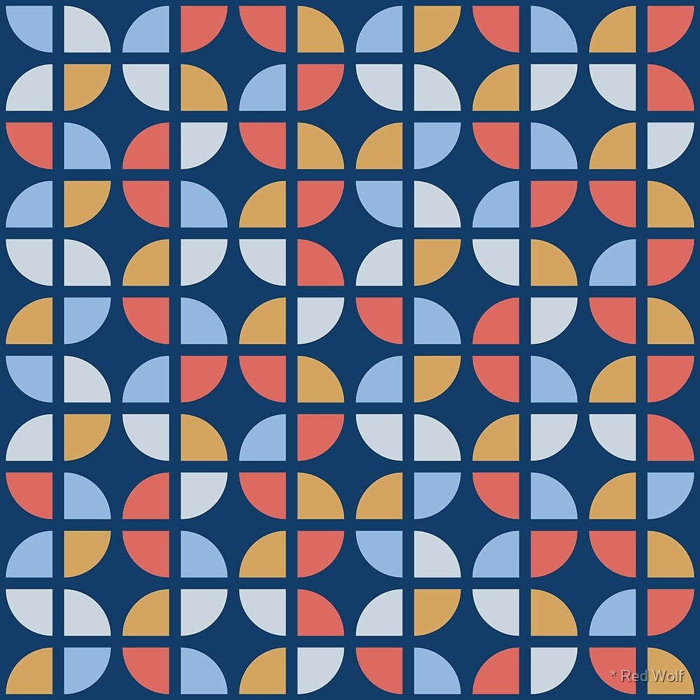 Geometric Pattern: Quarter Circle: Coastal by * Red Wolf