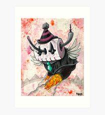 Skully Bot Art Print