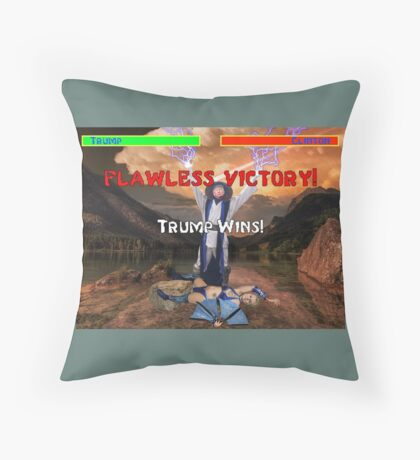 Trump's Flawless Victory Throw Pillow