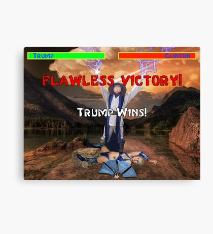 Trump's Flawless Victory Canvas Print