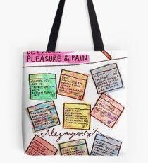 Pregnancy: Fineliner between Pleasure & Pain Tote Bag