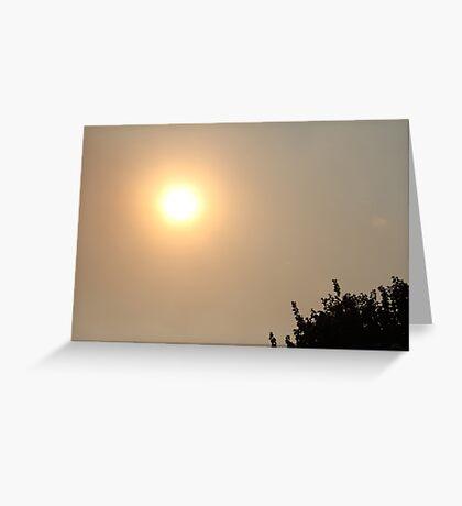 smoked out sun II Greeting Card