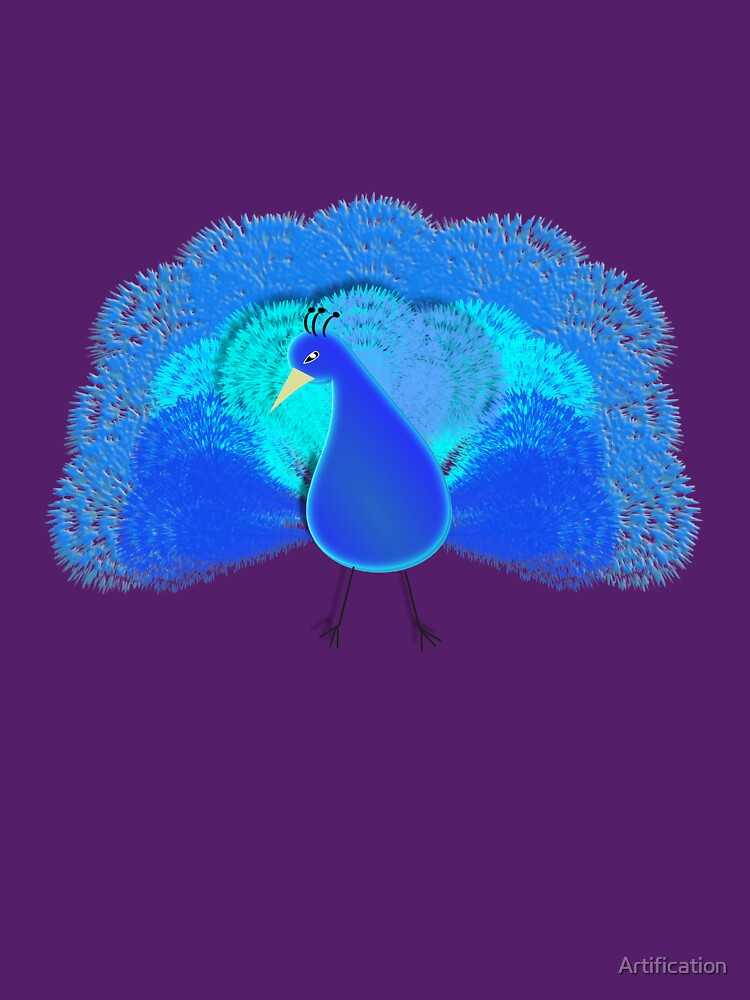 Cute Exotic Bird Illustration by Artification