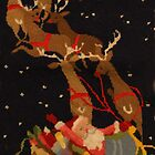 "Santa and his reindeer by Christine ""Xine"" Segalas"