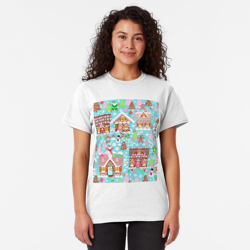 Christmas Gingerbread House, Holiday Village Classic T-Shirt