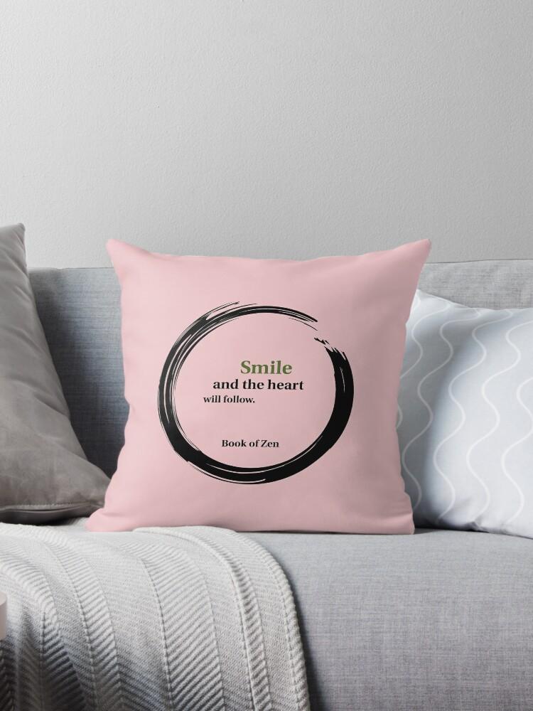 positive attitude smile quote throw pillow by bookofzen redbubble