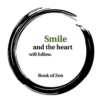 Positive Attitude Smile Quote by bookofzen