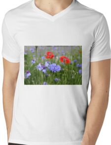 cornflowers and poppies Mens V-Neck T-Shirt