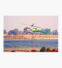 Helitankers At Champion Lakes  Photographic Print