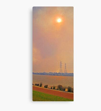 Champion Lakes Bushfire  Canvas Print