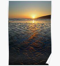 Sandy Sunset Poster