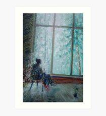 Sviridov. Snowstorm. Romance  /  2010  /  oil on cardboard Art Print