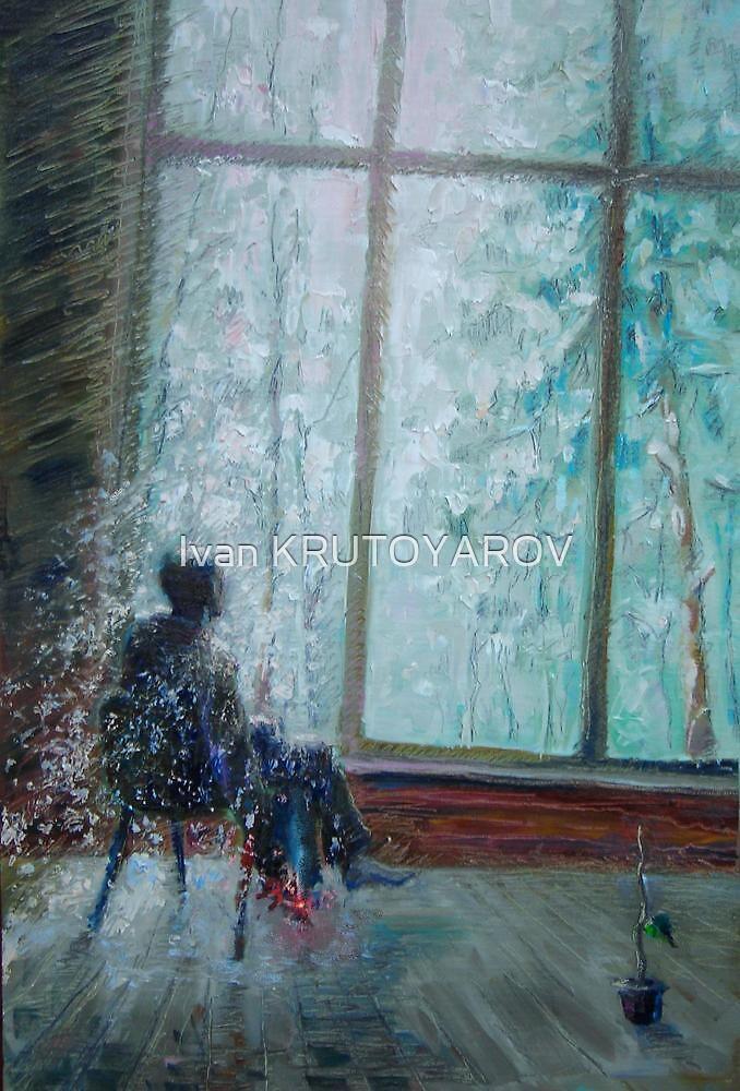 Sviridov. Snowstorm. Romance  /  2010  /  oil on cardboard by Ivan KRUTOYAROV