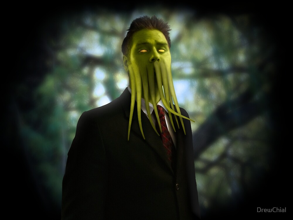 Cthulhu is ready for business  by DrewChial