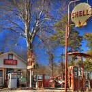 Dilipidated Gas Station by Chelei