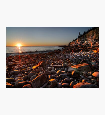 Sunrise at Rocky Beach, Acadia NP, ME Photographic Print