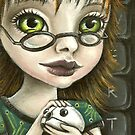 Geek girl and her pet mouse by tanyabond