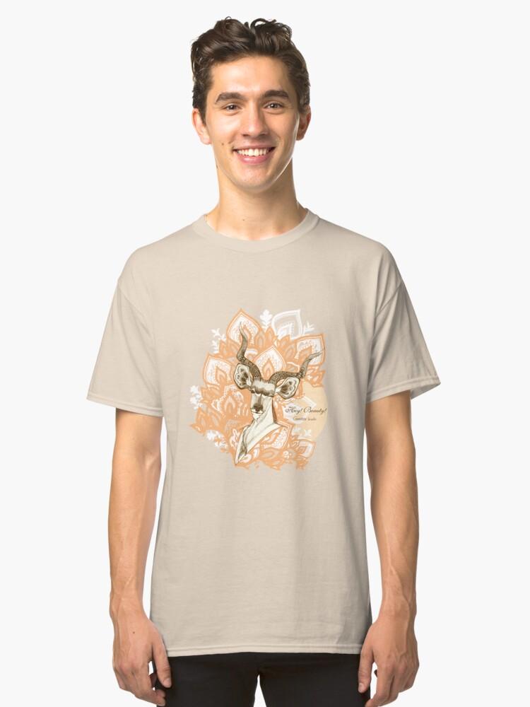 Alternate view of Hey! Beauty! - Greater Kudu -  yellow Classic T-Shirt
