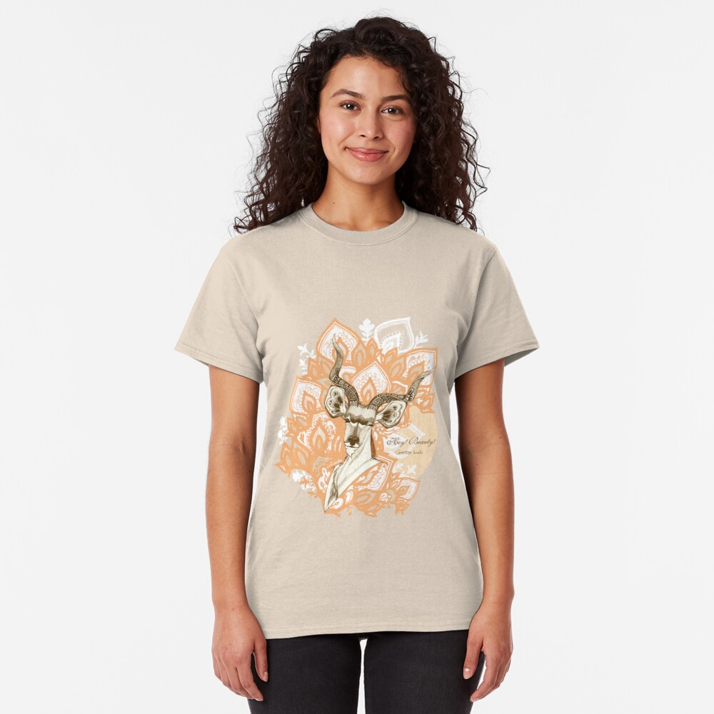 Hey! Beauty! - Greater Kudu -  yellow Classic T-Shirt