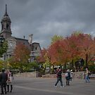 Autumn in Old Montreal by Gerda Grice