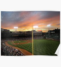 Sunset at Fenway  Poster