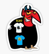 devil tshirt by rogers bros Sticker