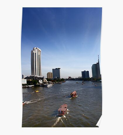 Chao Praya River - Early Morning Poster