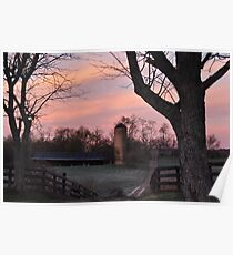 Oak Hill at Dawn Poster