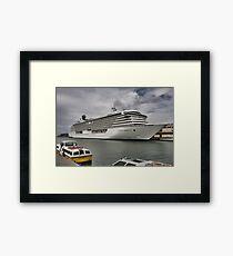 Crystal Serenity Cruise Liner Framed Print