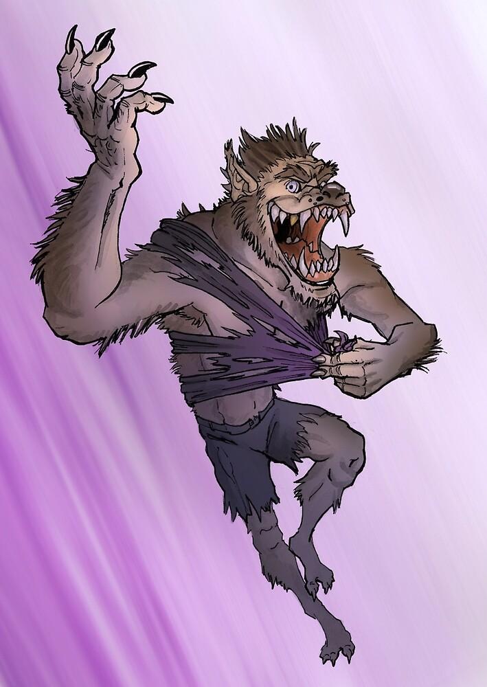 Werewolf Transformation With Background by hamstertoybox