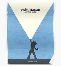 Minimalist Video Games: Pokemon Blue Version Poster
