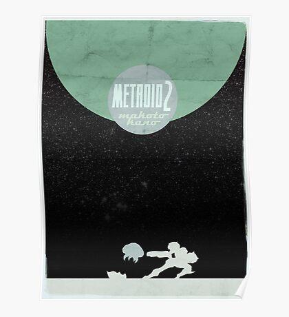 Minimalist Video Games: Metroid 2 Poster